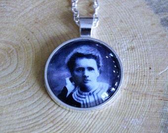 Marie Curie Necklace - Scientist Necklace - Celebrating Science