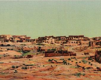 Old Laguna Indian Pueblo Santa Fe Trail New Mexico Vintage Postcard (unused)