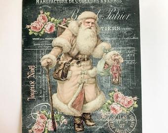 Christmas Sign - Victorian Santa Sign - Wreath Sign  - Wreath Attachment