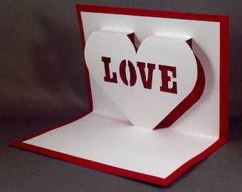 Pop Up Valentines Day Card for Boyfriend Love Card for Her Funny Valentine Card I Love You Card for Wife Cute Valentine Card for Girlfriend