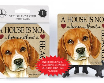 Beagle A House Is Not A Home Stone Drink Coaster