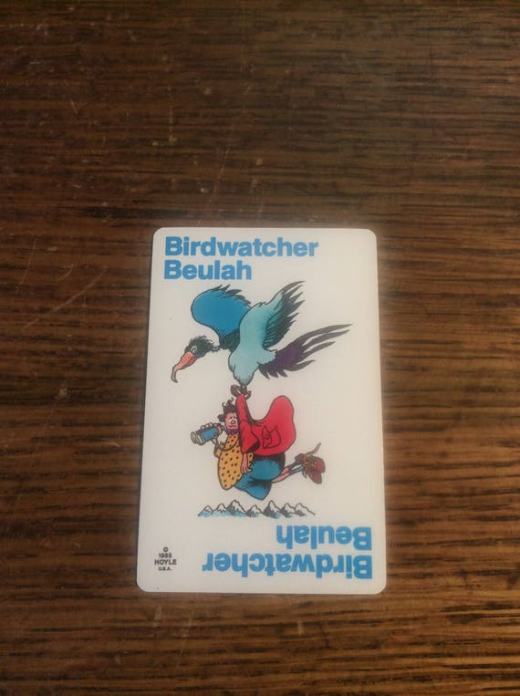 Old Maid card replacement from 1985 Hoyle, Birdwatcher Beulah replacement Old Maid cards, complete your Old Maid deck, Nothings New Here