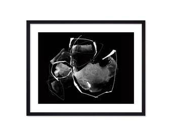Black and White Wall Art - Black and White Art - Black White Print - Black White Abstract Painting - Black White Decor - Minimalism