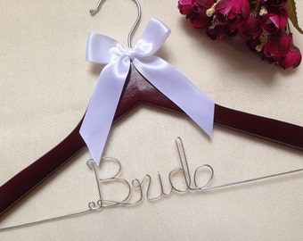 Ships in 1-3 days,Personalized Wedding Hanger,Custom Bride Hanger,Bride hanger,Name hanger,Bridesmaid hanger,bride hanger for wedding dress