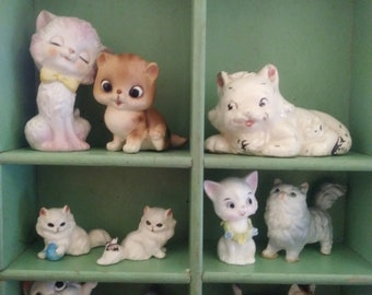 Vintage Kitschy Lot of Kittens Cats
