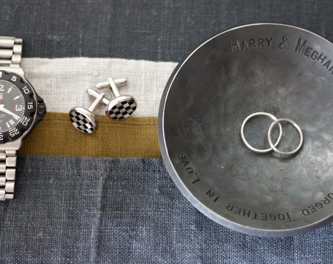 6th Anniversary Iron Ring Dish for Him