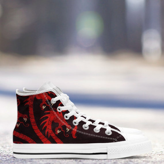 Shoes Collector Targaryen Custom Women sizes Canvas Game Of Hightop Trainers Shoes amp; Thrones White Sneakers Men's qtWXWE