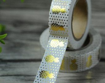 Gold Pineapple Washi Tape