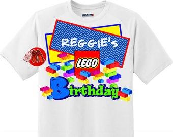 Lego Blocks Birthday Shirt T-shirt