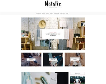 Natalie - A Blog and Shop Theme - Responsive WordPress Blog Theme - Feminine Wordpress Theme - WooCommerce Compatible - WordPress Theme