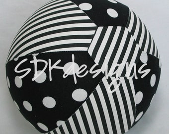 Fabric Balloon Ball Cover - TOY - Black and White Polka Dots & Stripes - Great Birthday Decor or Baby Shower Gift