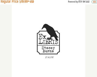 Mothers Day Sale Personalized Big Daddy Crow Ex Libris Bookplate Rubber Stamp C03