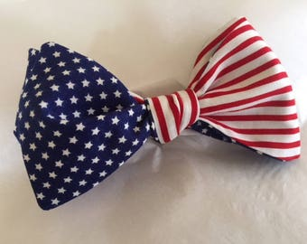 Stars and Stripes Adjustable Bow Tie (Self Tie)