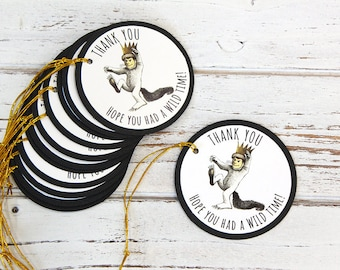 Where the Wild Things Are Favor Tags - Gift Tags, Thank you tags