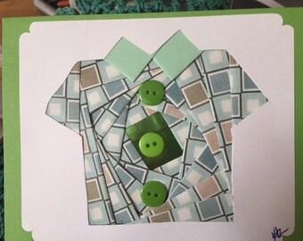 Iris Folded Shirt/Blouse Card