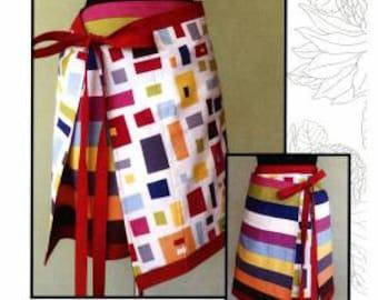Modern apron skirt pattern byLeesa Chandler Designs,