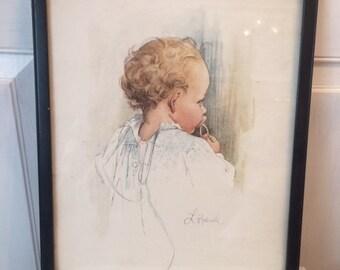 Vintage Baby Print