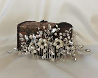 Pearl wedding hair accessories Pearl wedding comb jewelry for hair  Hair Comb Wedding Hair Accessories Bridal Hair Accessories Wedding comb