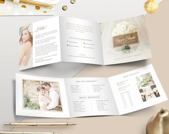 Pricing Guide Template, Photography Pricing Desing, Price List Trifold Brochure Template for Photographers - INSTANT DOWNLOAD - PG003