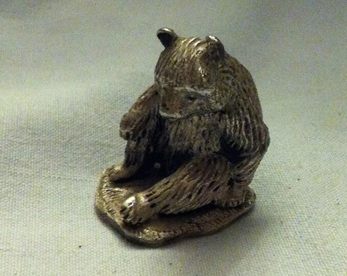 Vintage bear Figure metal figure massive miniature