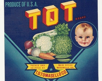10 Old Vegetable / FRUIT Crate Labels