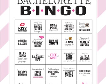 Bachelorette party game instant download printable bachelorette party game bingo dare sheet digital file print it yourself solutioingenieria Images