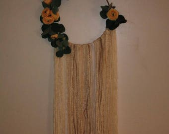 """Wall Hanging """"Flowers in Lace"""""""