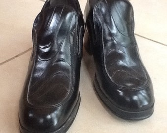 """Men's Shoes,8D,""""Sears"""",Stacked Heel Dress Shoes"""