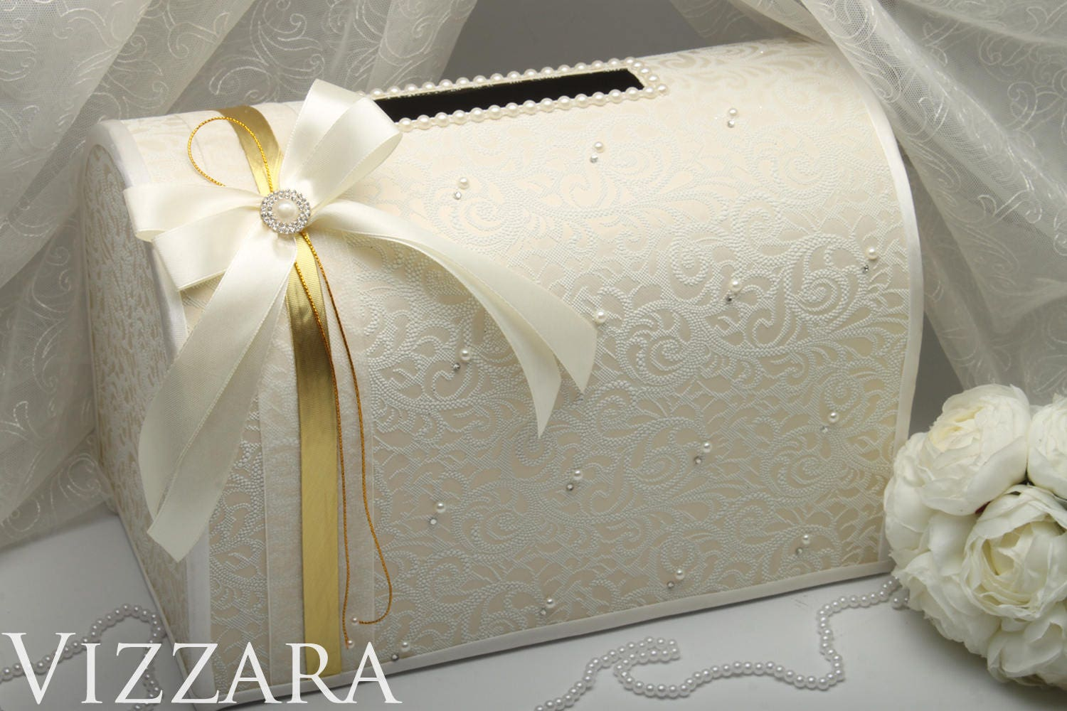 How Much Gift Card For Wedding: Wedding Money Box Ivory Wedding Card Box Gift Card Holder