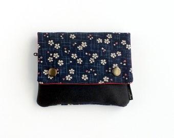 Monedero de tela flores japonesas