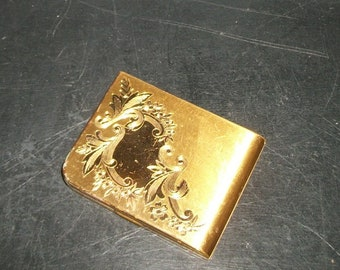 Vintage Gold Elgin American Powder Compact with Mirror