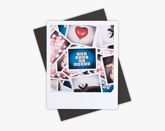 Valentines Day Card, Love Note, Cute Stationery, Blank Greeting Card, Simple Card, You Make Me Happy, Photo Card, Paper Goods