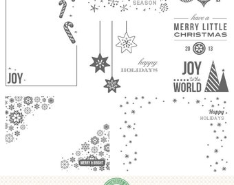 Editable Holiday, Christmas, Seasonal Photo Overlays - P5