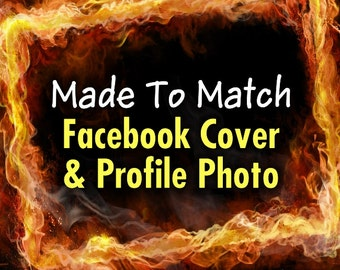 Facebook Page Cover & Profile Photo Set, Made-To-Match Any Design In My Shop