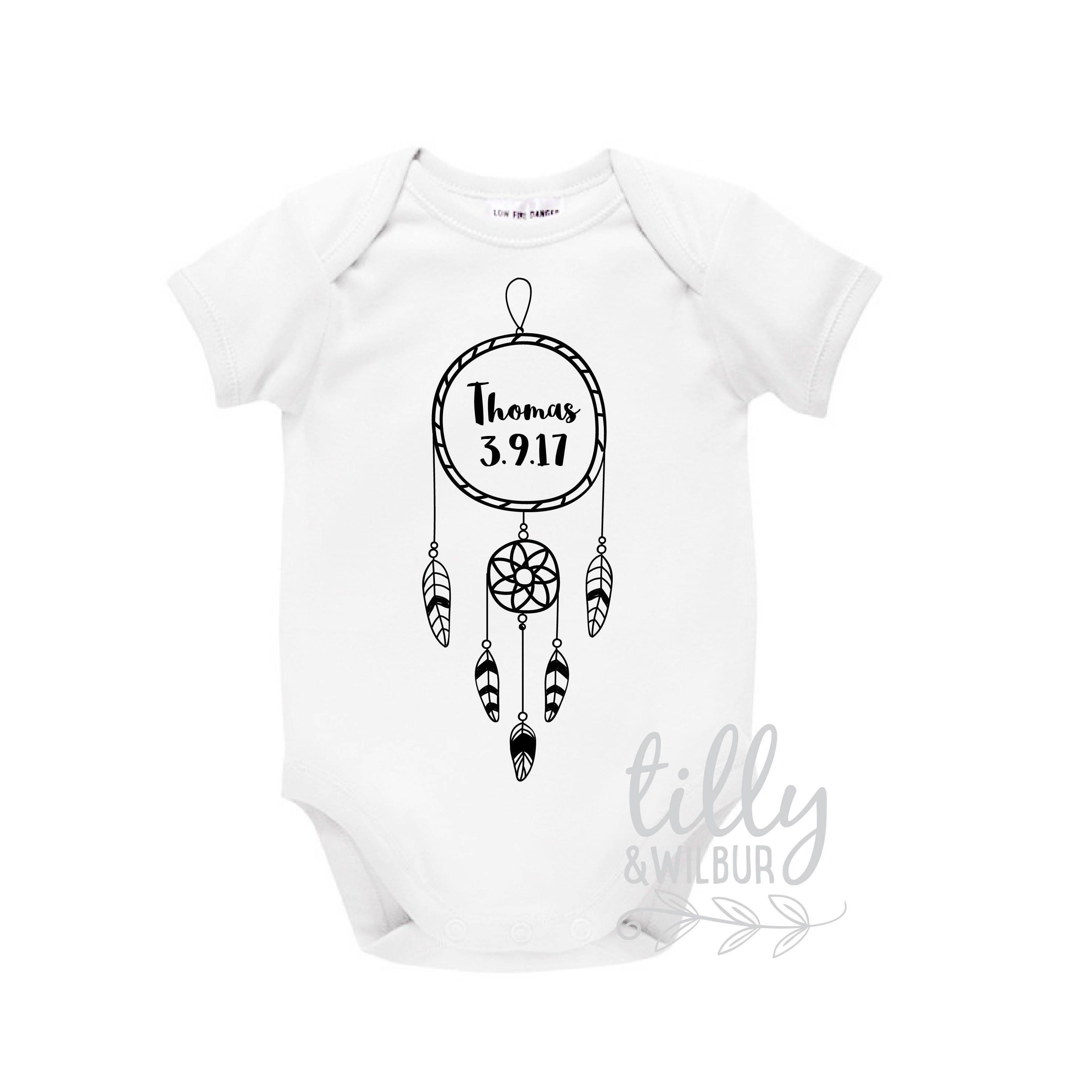 Personalised Newborn Baby Bodysuit