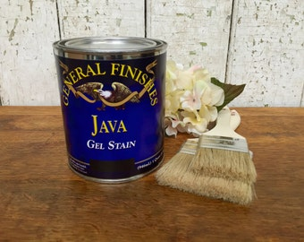 General Finishes Gel Stain - Java Gel Stain - Antique Walnut Stain - Best Wood Stain - Grey Wood Stain - Wood Refinishing