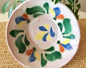 Colorful Pottery Serving Bowl