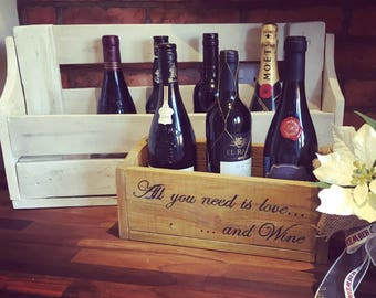 All you need is love and wine wall or stand alone wine rack
