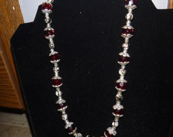 Red SwirlBracelet and Necklace Set