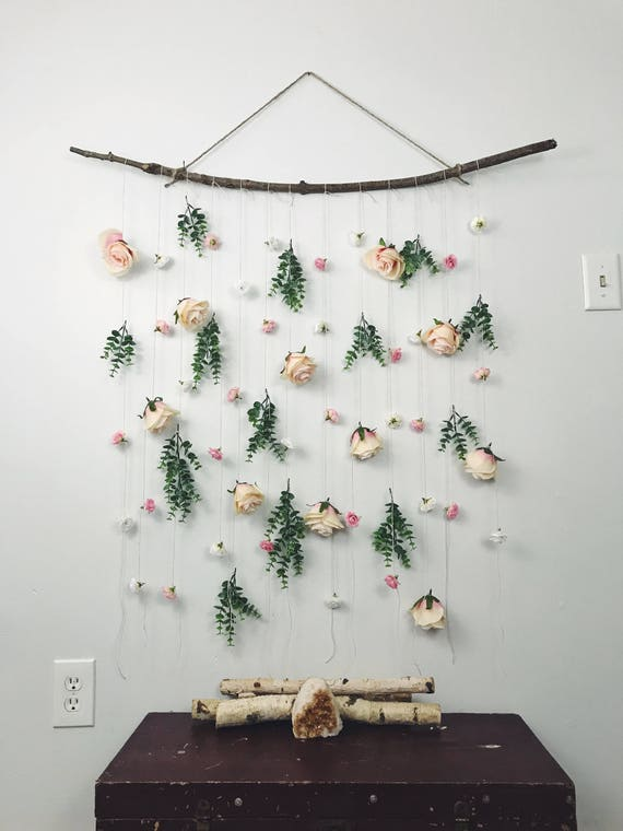 Rose Flower Wall Hanging Hanging Flower Backdrop Floral Wall