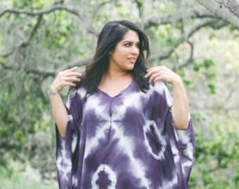 Plus size Shibori Tunic dress // Custom Color and Style!