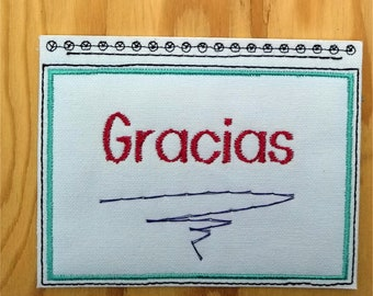 Embroidery Greeting Cards by DiElobi – Thank You Card #4S