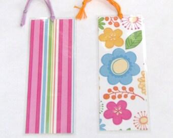 Handmade Pink Flowers Bookmarkers