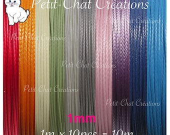 Mix batch of 10 meters of thread in satin satin 1 mm for several bracelets * CU3