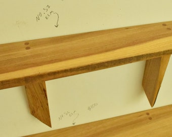 No. 57 - Thick Elm Live Edge Shelf