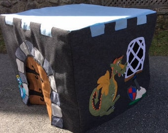 Card Table Playhouse,  Castle,  Knight and Dragon - PDF PATTERN ONLY
