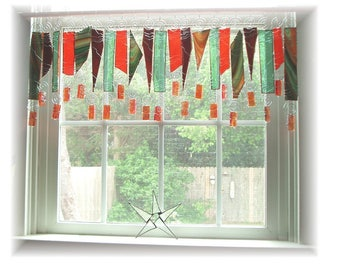 Artglass on Parade Stained Glass Window Treatment Valance Curtain