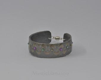 Child Size Heart Cuff Bracelet - Polymer Clay Cuff - Extra Small Cuff Bracelet - Tween Bracelet - Gift for Her - Polymer Clay Bracelet