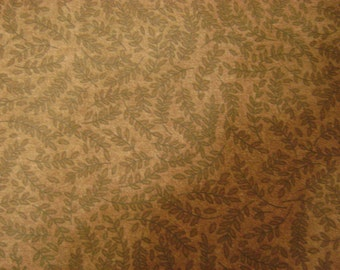 Tonal Fern Burgundy Cotton Fabric Sold by the Yard