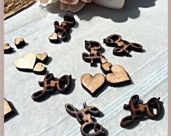 Wedding confetti, wooden wedding confetti , personalised wedding confetti , wedding sprinkles, Table confetti, Table sprinkles